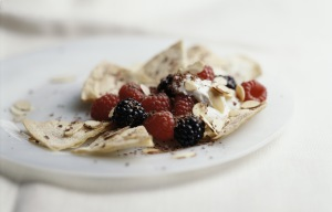image for Nachos con frutas del bosque
