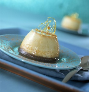 image for Flan de chocolate y naranja