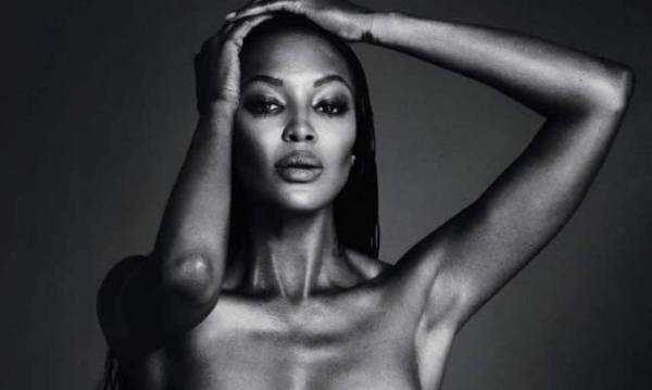 image for Naomi Campbell protesta con foto topless #freethenipple
