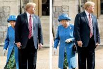 thumbnail for Donald Trump hace un feo a la reina Elizabeth y se salta el protocolo (VIDEO)